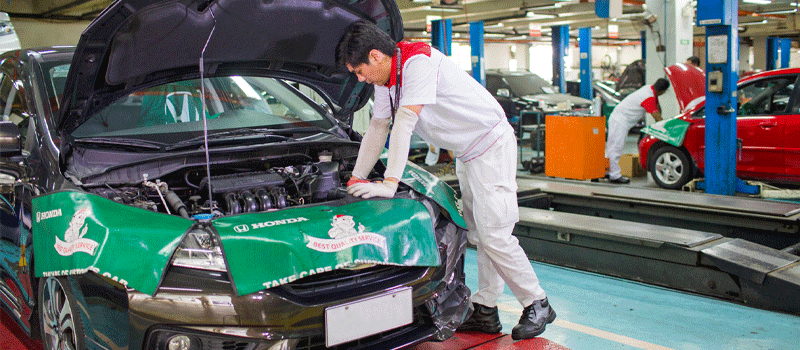 5% off on labor for general repair - Honda